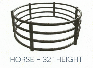 "horse 32"" height hay ring"